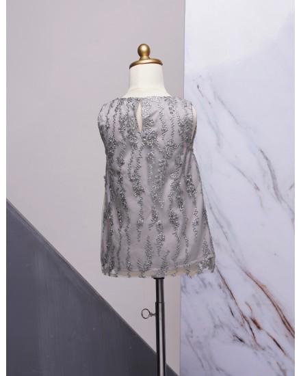 Dark Gray Bow Dress