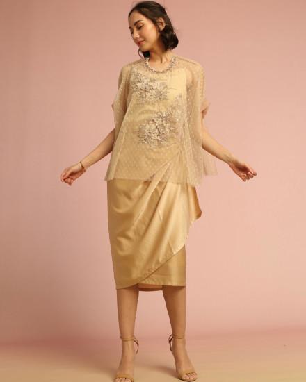 Cera Wrap Skirt in Pink