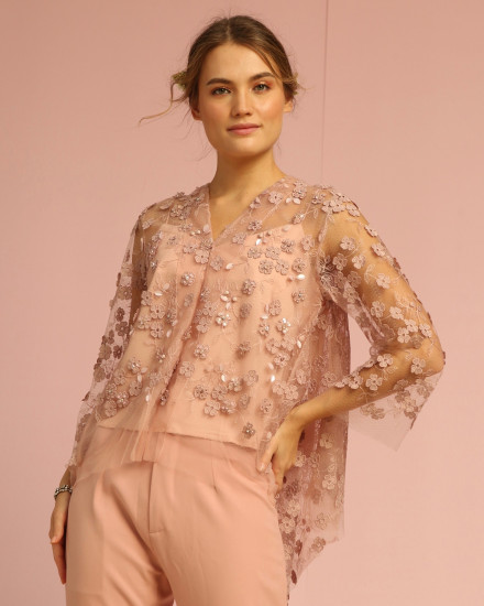 Bloom Top Dusty Pink