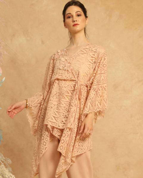 Kimono Lace Top Pink